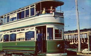 Trolley - Blackpool (England) Double-Decker (at Kennebunkport, ME)