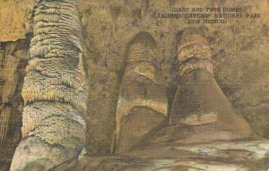 Giant and Twin Domes Carlsbad Caverns Nat'l Park New Mexico Vintage Postcard