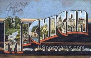Greetings from, Michigan Postcard      ;      Greetings from, MI Post Card Gr...