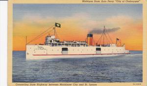 Michigan State Auto Ferry CIty of Cheboygan, 30-40s