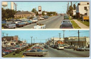 1960's ALL ROADS LEAD TO REHOBOTH AVENUE REHO BEACH DELAWARE*VINTAGE POSTCARD