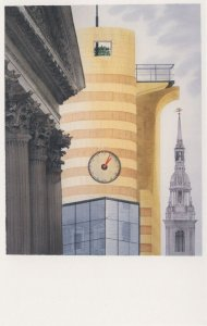 Clock at Poultry Mansion House St Mary Le Bow London Postcard