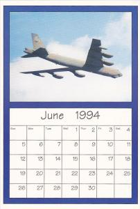 June 1994 Limited Editon Calendar Cardm AirShow '94 Boeing B-52 Stratofortress