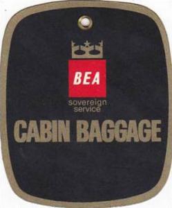 BEA CABIN BAGGAGE AVIATION BAGGAGE TAG