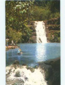 Unused Pre-1980 WATERFALL Oahu - Honolulu & Kailua & Kapolei Hawaii HI E4224