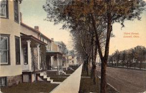 E76/ Lowell Ohio Postcard c1910 Third Street Homes 3