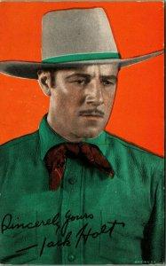 Jack Holt Vtg Now Arcade Card Movie Star Actor Color