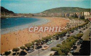 Postcard Modern San Sebastian Beach and Promenade de la Concha