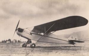 Piper J3 WW2 Plane Military Liverpool War Real Photo Aircraft Postcard