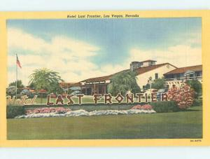 Unused Linen LAST FRONTIER CASINO HOTEL Las Vegas Nevada NV Q6901