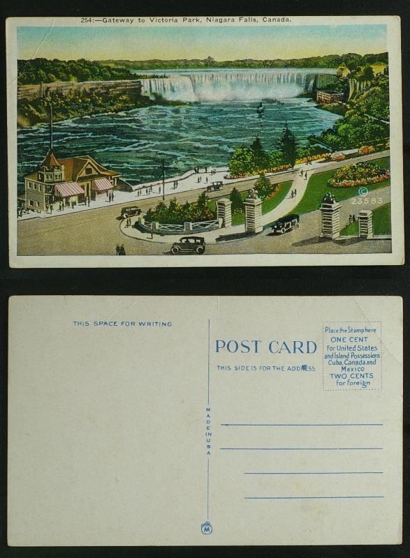 Gateway to Victoria Park Niagara Falls c 1920s, c crease