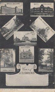 ATTLEBORO , Massachusetts , 1901-07 ; 8 view postcard