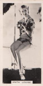 Anita Louise Hollywood Actress Rare Real Photo Cigarette Card