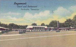 Tennessee Nashville Bagemans Court And Restaurant 1950