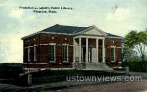 Frederick C. Adam's Library Kingston MA 1913