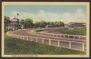 Pimlico Race Track,Baltimore,MD Postcard