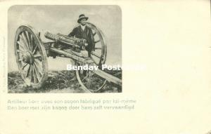 BOER WAR, Boer Soldier with his Homemade Cannon (1899)