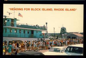 Galilee, Rhode Island/RI Postcard, State Pier, Ferryboat To Block Island