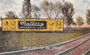 Mallory Cravenette Hats Advertising 1908