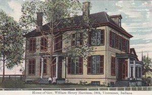 Indiana Vincennes Home Of Govner William Henry Harrison In 1804