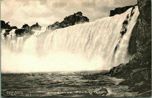 Shoshone Falls From Below ITwin falls daho ID UNP 1910s Postcard Amos Photo No 1