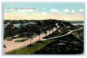 Postcard Western Promenade, Portland ME Maine G33