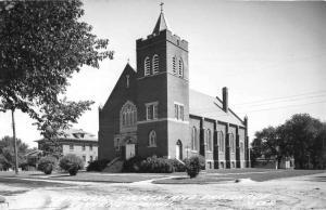 Luverne Minnesota Catholic Church Real Photo Antique Postcard K97854