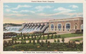 Gulf Island Dam on Androscoggin River - Central Maine Power Company at Lewiston