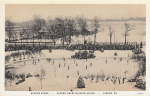 GIRAD , Pennsylvania , 1910s ; Ice Skating, Sacred Heart Mission House