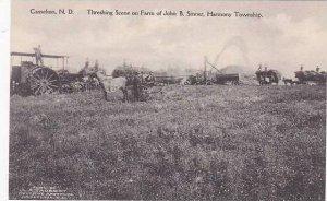 North Dakota Casselton Threshing Scene On Farm Of John B Sinner Harmony Towns...