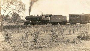 C.1910 RPPC C.E.I Train in Botertown, PA. Postcard P165