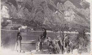 RP, RAGUSA , Croatia , PU-1937 ; 2 women & horse , Ship in harbor