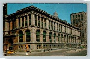 Chicago IL-Illinois, The Chicago Public Library, Chrome c1963 Postcard