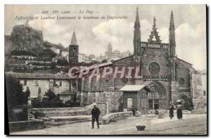 Old Postcard Haute Loire Le Puy Saint Laurent Church Containing the tomb of D...