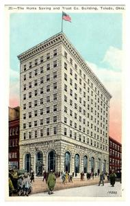 Home Saving and Trust Co. Building, Toledo, OH Postcard *5N22