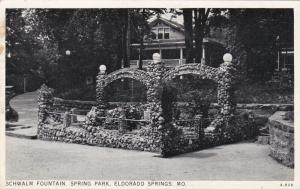 RP; ELDORADO SPRINGS, Missouri, PU-1939; Schwalm Fountain, Spring Park