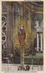 STE. ANNE DE BEAUPRE, Quebec, Canada, 00-10s; The Statue In The Basilica