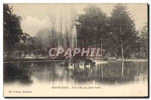 Postcard Montelimar Old Piece of water of the public garden