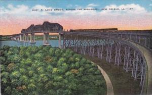 Louisiana New Orleans The Huey P Long Bridge Across Mississippi River