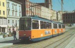 Linz 44 Tram Wien Austrian Tram 1980s Postcard
