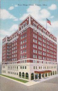 Ohio Toledo Fort Meigs Hotel 1950