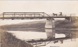 RP: Buggy on Bridge , MACOURI , Saskatchewan , Canada , 00-10s
