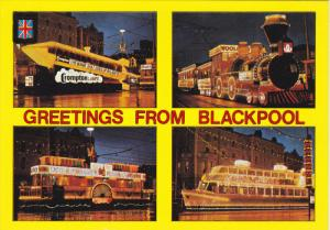 BLACKPOOL, Lancashire, England, 1950-1970's; Shell Gas Co. Boat, Haig House B...