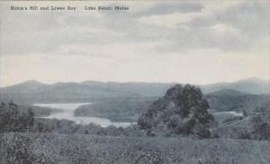 Maine Lake Kezar Hatchs Hill And Lower Bay Albertype