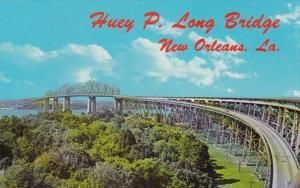 Louisiana New Orleans Huey P Long Bridge Across Mississippi River