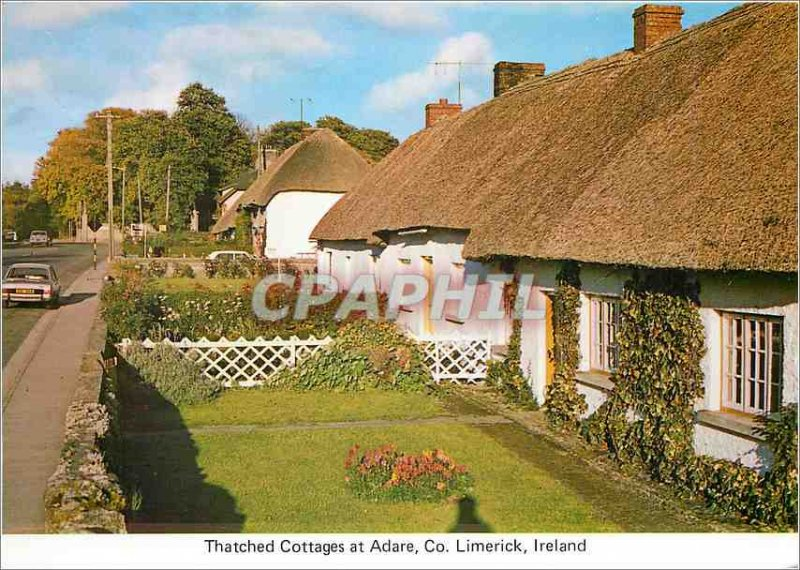 Modern Postcard Thatched Cottages at Adare Co Limerick Ireland