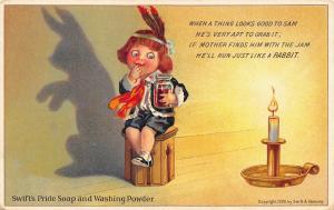 Swifts Pride Soap & Washing Powder Poem Indian Boy Advertising Postcard