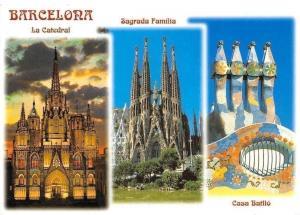 Spain Barcelona La Catedral, Sagrada Familia Casa Batllo Dom Cathedral