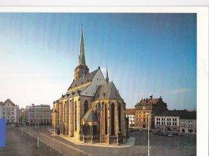 POSTAL B02205: Plzen.Namesti Republicky katedrala sv. Bartolomeje.