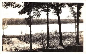 Scottville Michigan~Long Lake Well Exposed~Real Photo Postcard RPPC 1941